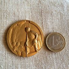 Medaille Nord France Brasseur Corporatif  Gr C. Charl Bronz Dore