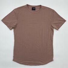 Cuts Clothing Short Sleeve Crew Neck Curve Hem T-Shirt Mountain Mist M L XL XXL