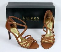 Lauren Ralph Lauren Women's Sandals Sasha Dress Fashion Designer Leather NIB