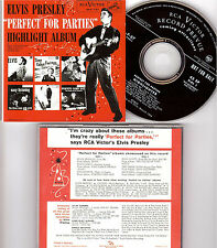 Elvis PRESLEY perfect for parties ORIGINALE ULTRA RARE BMG inhouse PROMO CD