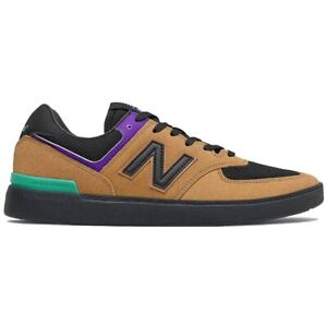 New Balance Men's All Coasts 574 Low Top Sneaker Shoes Brown/Black Clothing A...