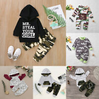 Infant Baby Boy Winter Clothes Hoodies Sweatshirt Top + Pants 2PCS Outfits Set