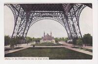 Le Trocadero vu sous la Tour Eiffel as seen under Tower Paris FRANCE Post Card