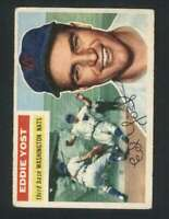1956 Topps #128 Eddie Yost VG/VGEX Senators 94356