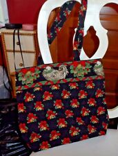 Vera Bradley button tote in retired Hens-n-Holly pattern