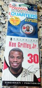 KEN GRIFFEY JR. 2005 Signature Colorized Statehood Quarter w/ COA HOF REDS $$$
