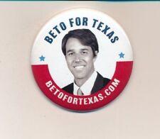 """2018 Official Beto O'Rourke US Senate Texas TX  2 1/4"""" cello"""