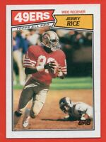1987 Topps #115 Jerry Rice NEAR MINT+ San Francisco 49ers HOF FREE SHIPPING