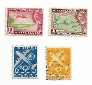 Curacao postage stamps x 4
