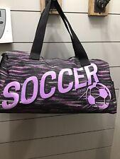 Justice Girl Soccer Athletic Duffel Bag Color Space dye Black Adj Shoulder Strap