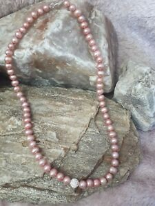 Beautiful Genuine Real Cultured Pearls Necklace