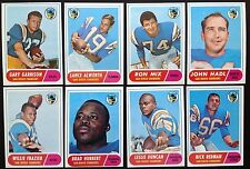 1968 Topps San Diego Chargers Team Set (8) EXMT to NM w HOF Lance Alworth & Mix