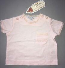 Tetine Jacadi Tee-shirt Rose Dentelle Broderie Girly 3 Mois Neuf Étiq !!!