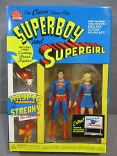 """DC Direct SUPERBOY and SUPERGIRL Deluxe 6"""" Action figure Boxed Set 2001"""
