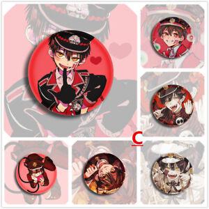 "Jibaku Shounen Hanako-kun Yashiro Nene Cute Badges 6 Pieces Pins Schoolbag 2.3"""