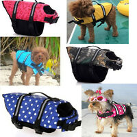 Dog Saver Life Jacket Vest Reflective Pet Preserver Aquatic Safety Size XS-XL