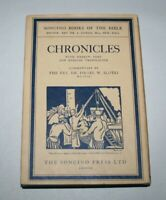 Chronocles, Soncino Books Of The Bible, Hebrew and English, 1969