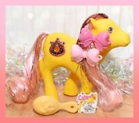 ❤️My Little Pony MLP G1 Vtg Princess MOONDUST Tinsel JEWEL Yellow Pink Earth❤️