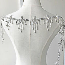 Rhinestone Pendant Crystal Applique Dangle Flower Dancing Wedding Costume Chain