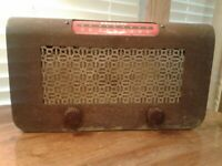 Vintage Rare Coradio Coin Operated Tube Hotel Radio For Restoration Or Parts