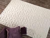 moroccon Design sculpté à la main qualité 100% laine Tapis en 3 tailles