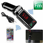 Bluetooth Wireless FM Transmitter W/Display USB Charger for iPhone iPod Android