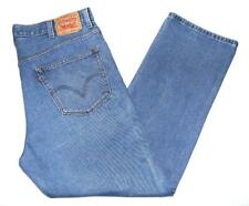 "* Levi's * Mens Vintage 505 Jeans 42""W X 32""L Regular Fit Blue Straight (G491)"