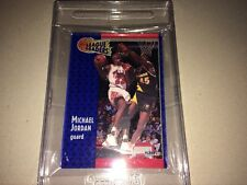MICHAEL JORDAN 1991 FLEER 3-D WRAPPER REDEMPTION ACRYLIC LEAGUE LEADER #220 MINT