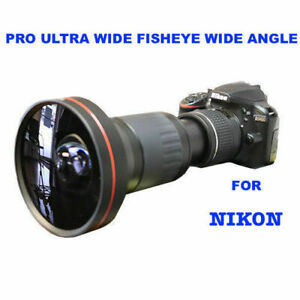 4MM 230° DEDICATED HD ULTRA WIDE FISHEYE MACRO LENS FOR NIKON DSLR D3400 D5600