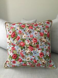Luxury Floral Cushion With Piping 100% Linen Quality