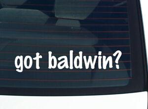 got baldwin? FAMILY PRIDE TREE REUNION LAST NAME CAR DECAL STICKER