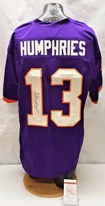 Adam Humphries Signed Clemson Tigers Purple Football Jersey JSA WP593066