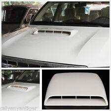 Auto Decorative DIY Vent Air Flow Intake Hood Scoop Bonnet Cover White Universal