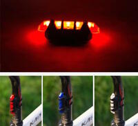 RECHARGEABLE frame LED for Cycling Bike Bicycle Rear bar head Light waterproof