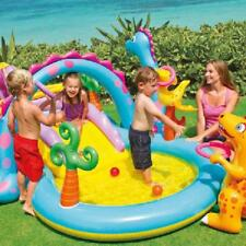 Kids Inflatable Dino Water Play Center Swimming Pool For Kids Boy Girl Outdoor