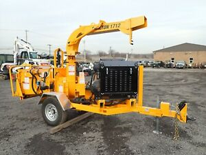 """NEW 2021 CARLTON 1712G 12"""" BRUSH CHIPPER, TOW BEHIND, 80HP GAS, DISK STYLE"""