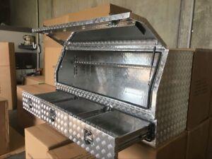 Aluminium Toolboxes Heavy Duty Full Door ute with 3 Drawers 170x60x82cm box