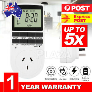UP5X 240V LCD Digital Timer Switch Automation Socket Electric Programmable Power