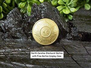 Carolina Starburst one Piece Coat Button with Free Display Case