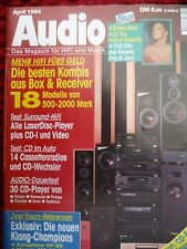 AUDIO 4/94,ACCUPHASE DP 65,ARES L 10 TECH,AURES MEMPHIS,LASER E 70,I.Q. TED 300