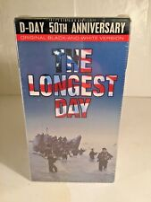 The Longest Day (VHS, 1994, 2-Tape Set)  B&W D-DAY 50TH ANNIVERSARY NEW SEALED