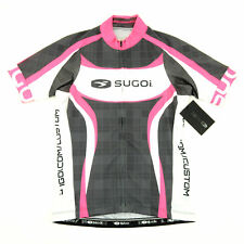 Sugoi Womens RS Team Cycling Short-Sleeve Jersey Pink/White/Grey Plaid X-Large