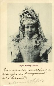 south africa, CAPE TOWN, Beautiful Malay Bride (1904) Postcard