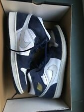 NIKE Air Jordan 1 Retro + White/Metallic Silver Mid-Navy 136065-101 us12/eu46