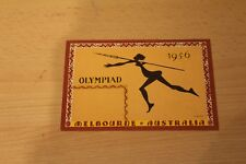 OLYMPIC GAMES MELBOURNE 1956 POSTCARD - OLYMPIAD