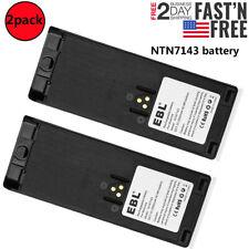 2pack 2500mAh Ntn7143 Ni-Mh Battery Replace for Motorola Ht1000 Mts2000 Mt2000