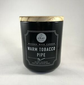 NEW DW Home WARM TOBACCO PIPE Wooden Wick Scented Candle 11.5 oz. 40 Hour Burn