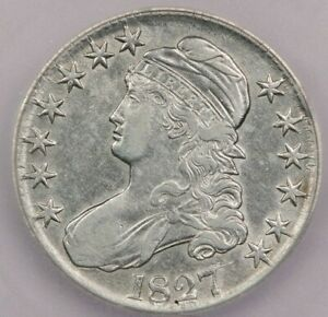 1827-P 1827 Capped Bust Half Dollar ICG EF40 XF40 Square Base 2