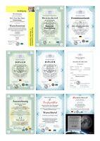 Premiumurkunde, Doktortitel, Meister, Zeugnis, personalisiert, fälschungssicher