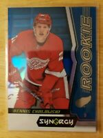 2018-19 UD Synergy TIER 2 BLUE ROOKIE PARALLEL #/599 Dennis Cholowski Red Wings